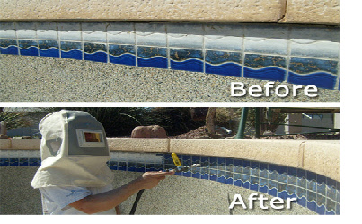 Pool Tile Cleaning Is Just One Of Many Services We Offer In Addition To Calcium Removal From Hard Scape Coping Repair
